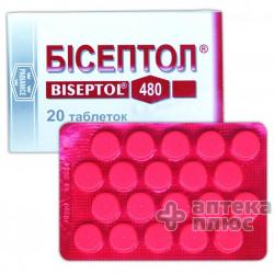 Бисептол таблетки 480 мг №20