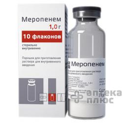 Меропенем порошок для инъекций 1000 мг флакон №10