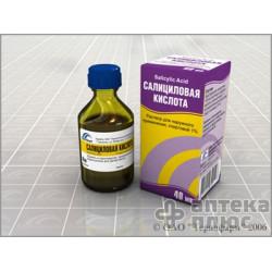 Салициловая Кислота раствор спирт. 1% флакон 40 мл