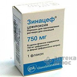 Зинацеф порошок для инъекций 750 мг №1
