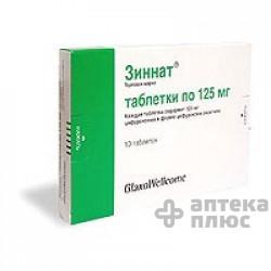 Зиннат таблетки п/о 125 мг №10