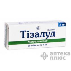 Тизалуд таблетки 4 мг №30
