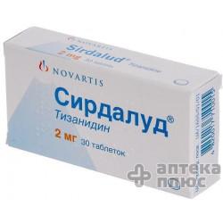 Сирдалуд таблетки 2 мг №30