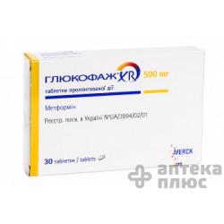 Глюкофаж Xr таблетки пролонг. 500 мг №30