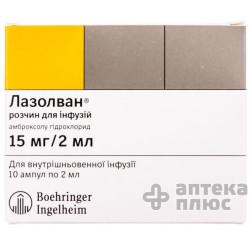Лазолван раствор для инфузий 0,75% ампулы 2 мл №10