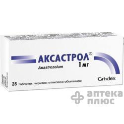 Аксастрол таблетки п/о 1 мг №28 (Анастрозол)