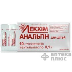 Аналгин суппозитории ректальные  100 мг №10