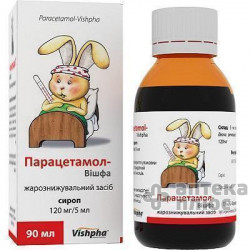 Парацетамол сироп 120 мг/5 мл банка 90 мл №1