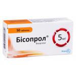 Бисопрол таблетки 5 мг блистер №50
