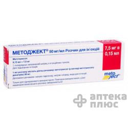 Методжект раствор для инъекций 50 мг/мл шприц 0,15 мл №1