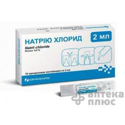 Натрия Хлорид р-р д/ин. 0,9% контейн. 2 мл №10