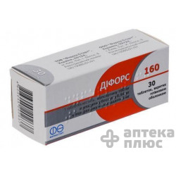 Дифорс таблетки п/о 6,94 мг + 160 мг №30