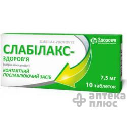 Слабилакс таблетки №10