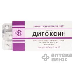 Дигоксин таблетки 0,25 мг №40