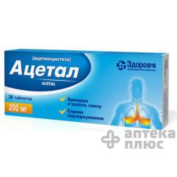 Ацетал таблетки 200 мг блистер №20
