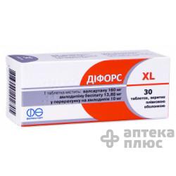 Дифорс Xl таблетки п/о 10 мг + 160 мг №30