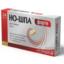 Но-Шпа Форте таблетки 80 мг №24