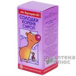 Солодки Корня Сироп сироп 250 мг/5мл флакон 100 г №1