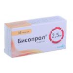 Бисопрол таблетки 2,5 мг блистер №50