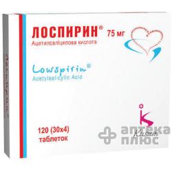 Лоспирин таблетки п/о 75 мг стрип №120