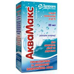Аквамакс спрей назал. 0,65% флакон 20 мл №1