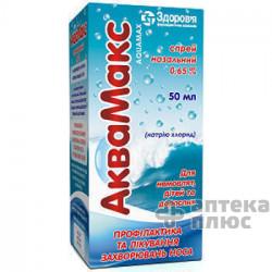 Аквамакс спрей назал. 0,65% флакон 50 мл №1