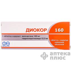 Диокор табл. п/о 160 мг №90