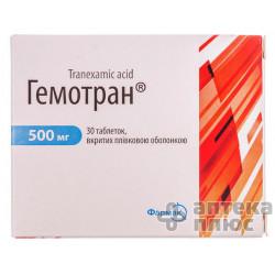 Гемотран таблетки п/о 500 мг №30