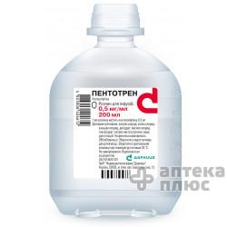 Пентотрен раствор для инфузий 0,05% флакон 200 мл