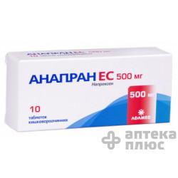 Анапран Ec таблетки кишечно-раств. 500 мг №10
