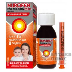 Нурофен Для Детей Форте суспензия орал. 200 мг/5 мл флакон 100 мл, клубника