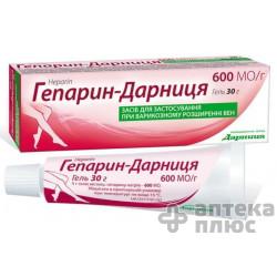 Гепарин гель 600 ЕД/г туба 30 г