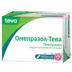 Омепразол капсулы гастрорезист. 20 мг №30