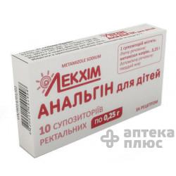 Аналгин суппозитории ректальные  250 мг №10