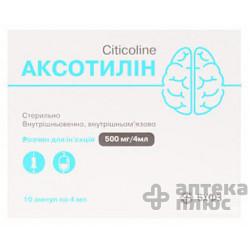 Аксотилин раствор для инъекций 500 мг/4 мл ампулы 4 мл №10