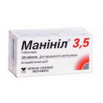 Манинил таблетки 3,5 мг флакон №120