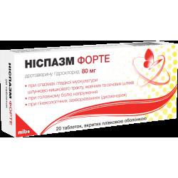 Ниспазм Форте таблетки п/о 80 мг №20