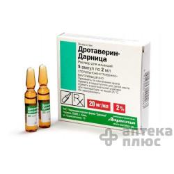 Дротаверин раствор для инъекций 20 мг/мл ампулы 2 мл №5