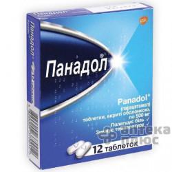 Панадол таблетки п/о 500 мг №12