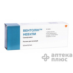 Вентолин р-р д/инг. 2,5 мл небулы 2,5 мл №40