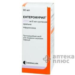 Энтерофурил суспензия 200 мг/5мл флакон 90 мл №1