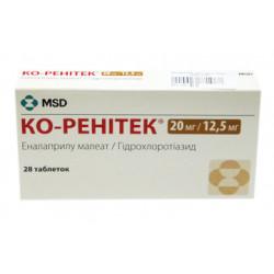 Ко-Ренитек таблетки 20 мг + 12,5 мг №28