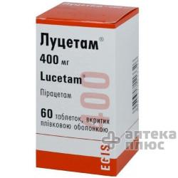 Луцетам таблетки п/о 400 мг флакон №60