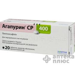 Агапурин Ср таблетки 400 мг №20