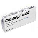 Сиофор таблетки п/о 1000 мг №30