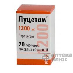 Луцетам таблетки п/о 1200 мг №20