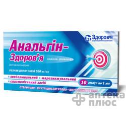 Анальгин раствор для инъекций 500 мг/мл ампулы 1 мл №10