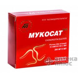 Мукосат Neo раствор для инъекций 200 мг ампулы 2 мл №10