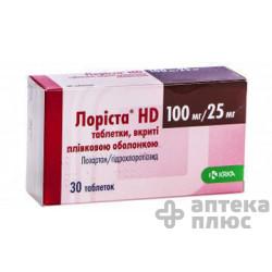 Лориста Нd таблетки п/о 100 мг + 25 мг №30