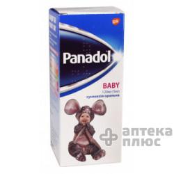 Панадол Беби суспензия 120 мг/5 мл флакон 100 мл №1